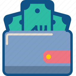 ecommerce, finance, money, pocket, purse, storage, wallet icon