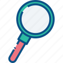 find, glass, locate, magnifier, magnifying, product, search icon