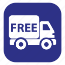 arrival, delivery, free, free shipping, truck icon