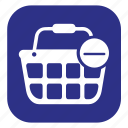 basket, cancel, cart, delete, ecommerce, remove from basket, shopping basket icon
