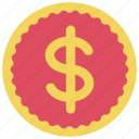 coin, dollar, ecommerce, money, payment icon