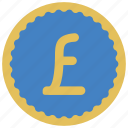 coin, ecommerce, money, payment, pound icon