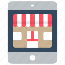 ecommerce, ipad, mobile, shop, store icon