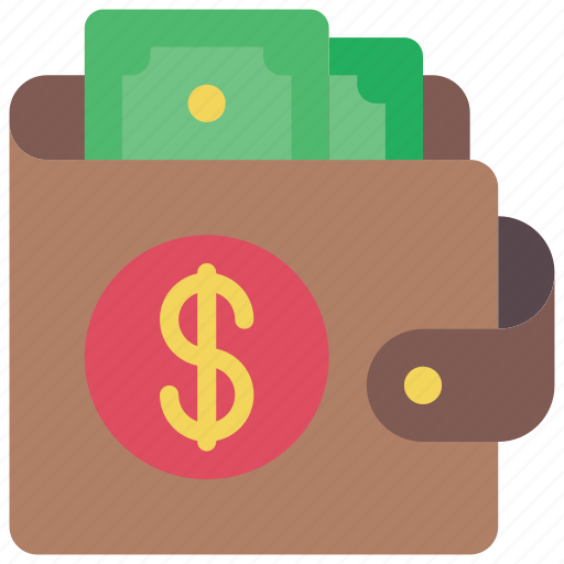dollar, ecommerce, money, notes, payment, wallet icon