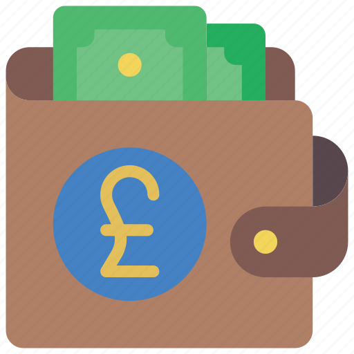 ecommerce, money, notes, payment, pound, wallet icon