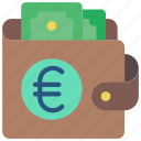 ecommerce, euro, money, wallet icon