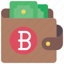 bit, coin, ecommerce, money, wallet icon