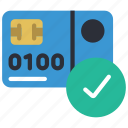approved, card, credit, debit, ecommerce, money icon