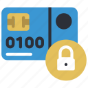 card, ecommerce, locked, money, payment, secure icon