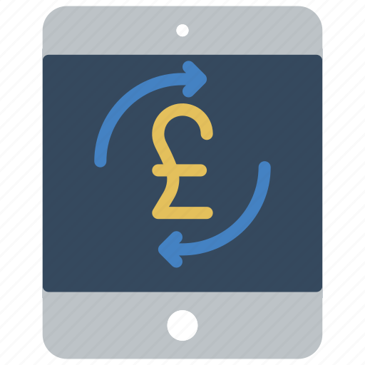 ecommerce, ipad, money, payment, pound, processing icon