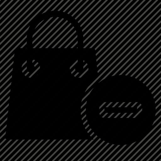 bag, ecommerce, minus, shopping icon