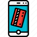ecommerce, iphone, mobile, payment icon