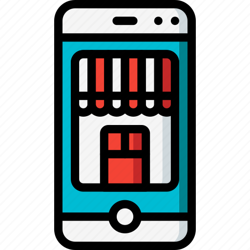 ecommerce, iphone, mobile, shop, store icon
