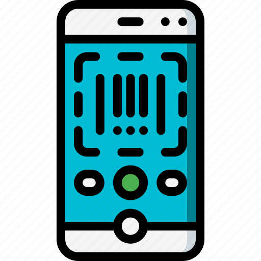 code, ecommerce, iphone, scan icon