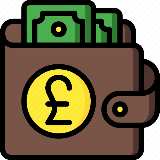 currency, ecommerce, money, payment, pound, wallet icon