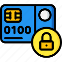 card, credit, debit, ecommerce, locked, payment, visa icon