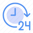 business, clock, hours, management, online, time icon