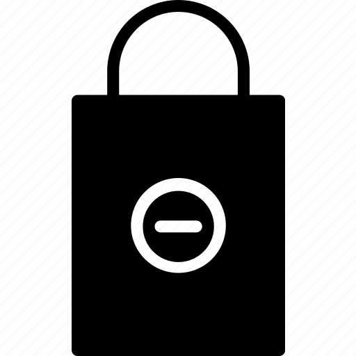 bag, e-commerce, from, remove, shopping, solid icon