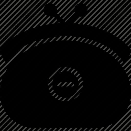 e-commerce, from, purse, remove, solid icon