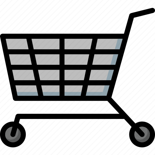 colour, commerce, e, shopping, trolley, ultra icon