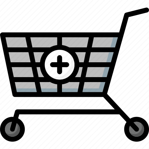 add, colour, commerce, shopping, to, trolley, ultra icon