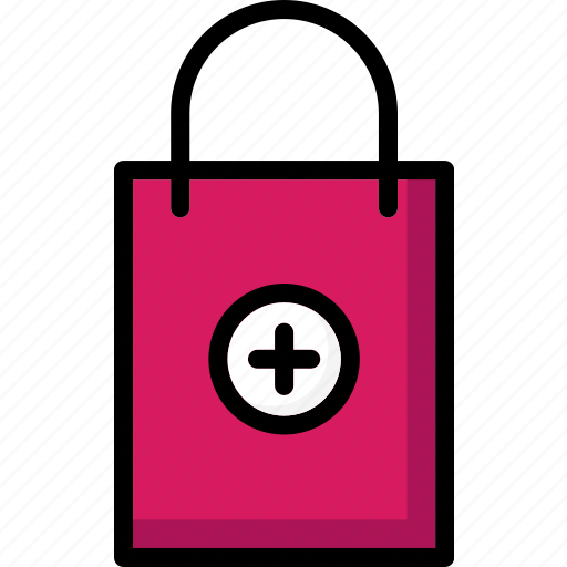 add, bag, colour, commerce, shopping, to, ultra icon
