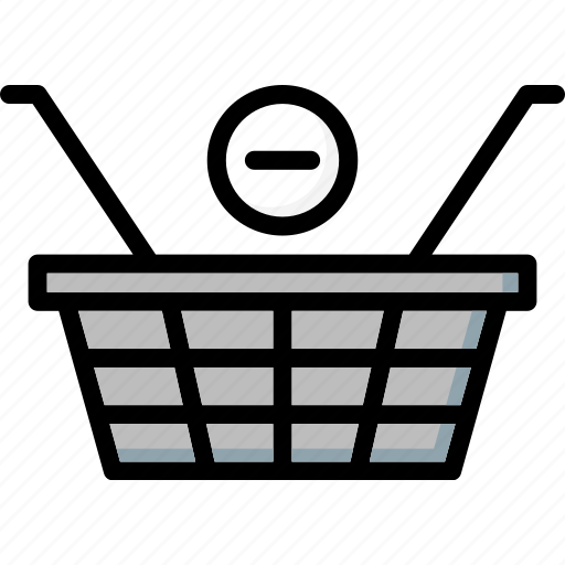 basket, colour, commerce, from, remove, shopping, ultra icon