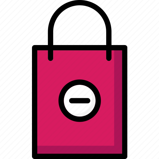 bag, colour, commerce, from, remove, shopping, ultra icon