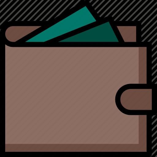 colour, commerce, e, full, ultra, wallet icon