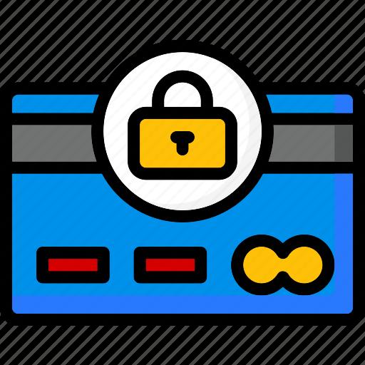 colour, commerce, e, payment, secure, ultra icon