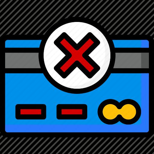 colour, commerce, e, failed, payment, ultra icon
