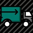 colour, commerce, delivery, e, standard, ultra icon