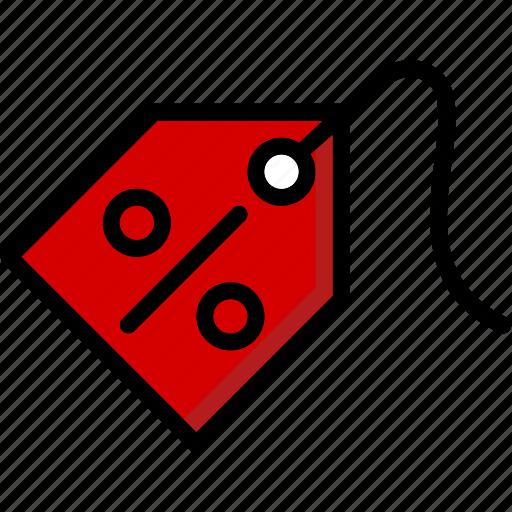 colour, commerce, discount, e, tag, ultra icon