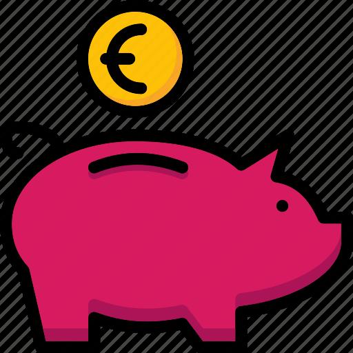 back, colour, commerce, e, euros, ultra icon