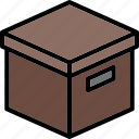 box, colour, commerce, e, storage, ultra icon