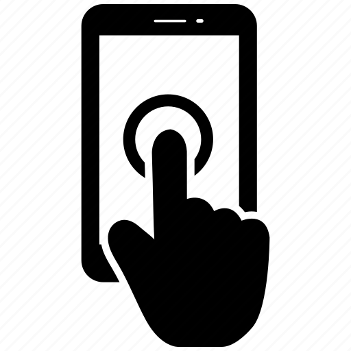 Click, finger, hand, mobile, phone, smartphone icon - Download on Iconfinder