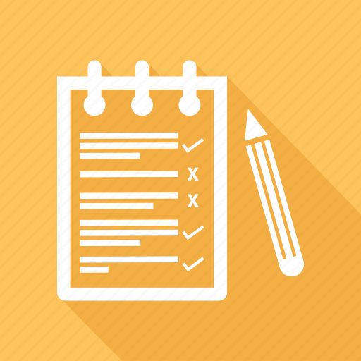 Notepad, pen, pencil, text icon - Download on Iconfinder