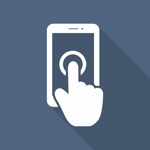 click, finger, hand, mobile, phone, smartphone icon