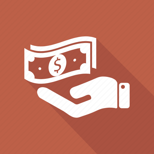 bill, dollar, hand, money icon