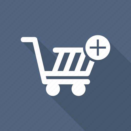 bag, cart, pluse, shop, shopping cart icon