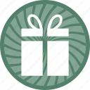 gift, gift box, present, present box, wrapped icon