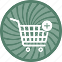 cart, commerce, ecommerce, plues, shopping icon