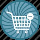 cart, commerce, ecommerce, minus, shopping icon