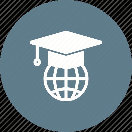degree, diploma, educational, global, student, study, web icon