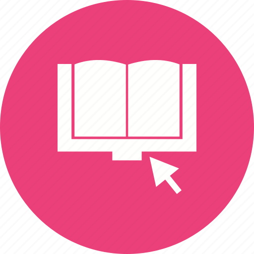 book, click, computer, digital, laptop, online, technology icon
