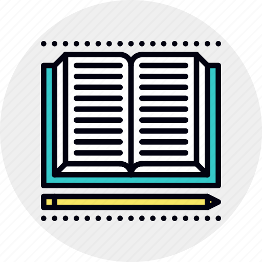 book, lessons, study icon