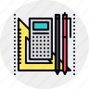 education, school, stationery icon