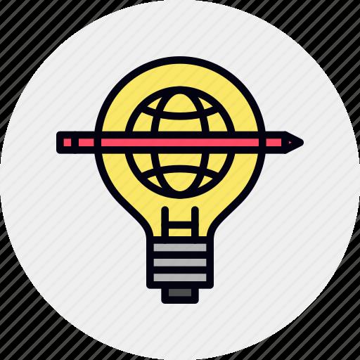 development, knowledge, study icon