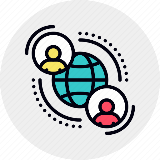 community, mooc, network, people, society icon