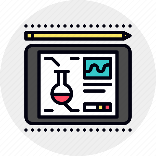 course, online, science, teaching icon